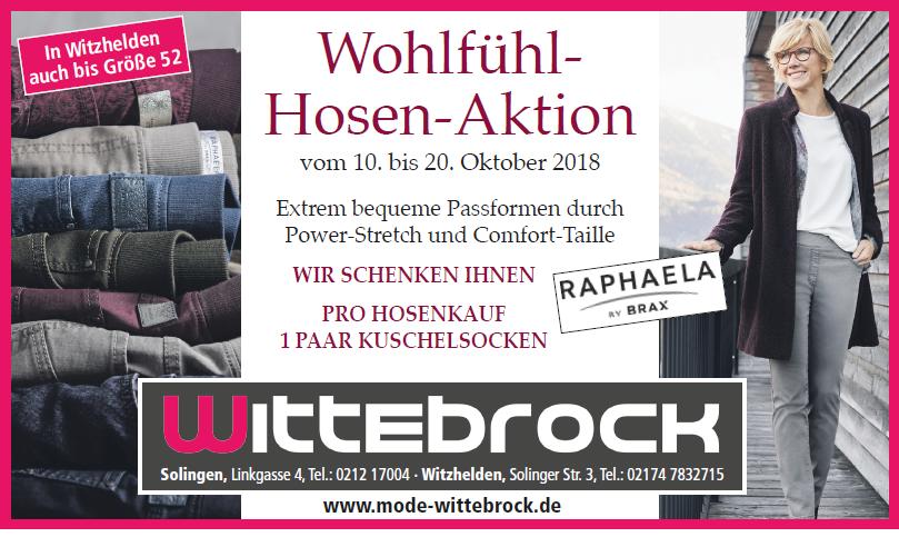 neue angebote bester Preis mäßiger Preis Hosenaktion zur Herbst-Eröffnung 2018 - Mode Wittebrock ...