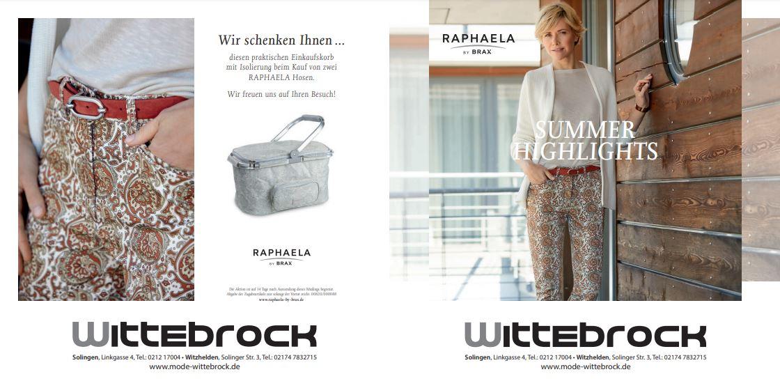 Mode Wittebrock Hosen Raphaela Brax Aktion Korb